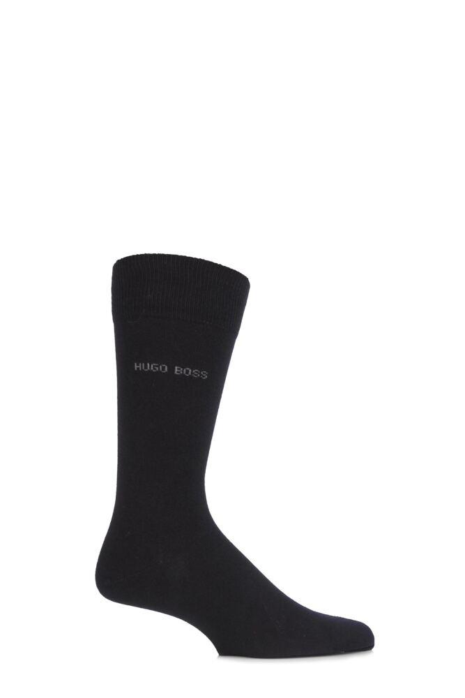 Mens 1 Pair Hugo Boss Plain Cotton Socks