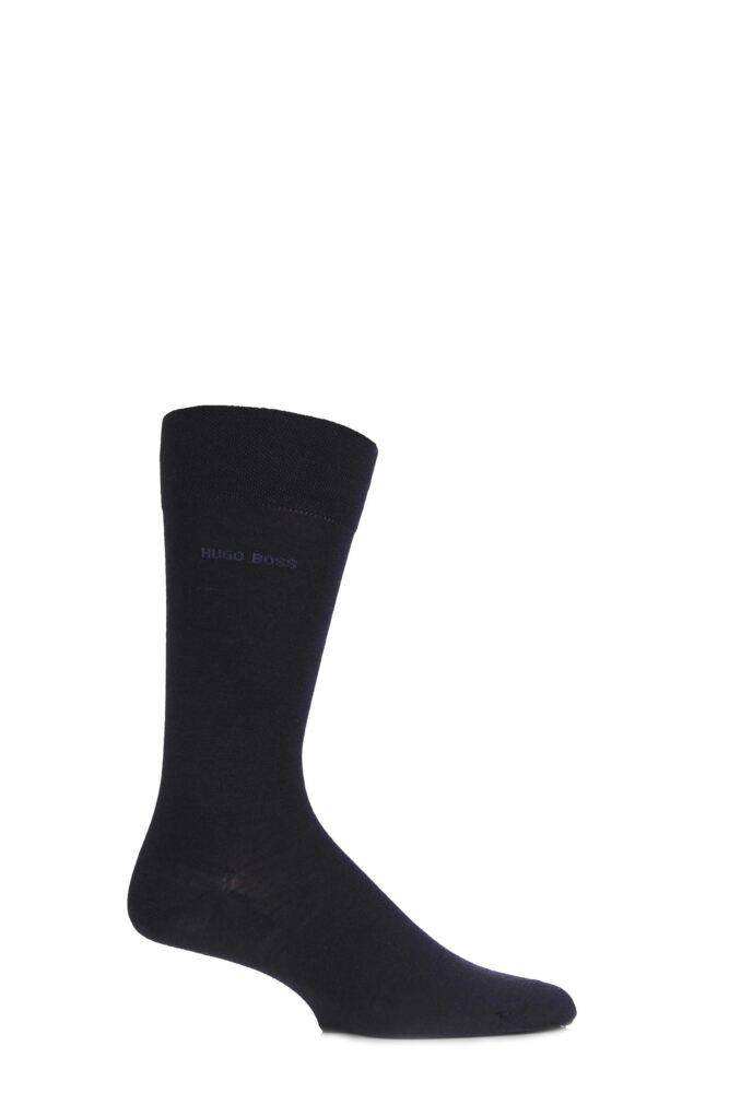 Mens 1 Pair Hugo Boss William Plain Merino Wool Socks