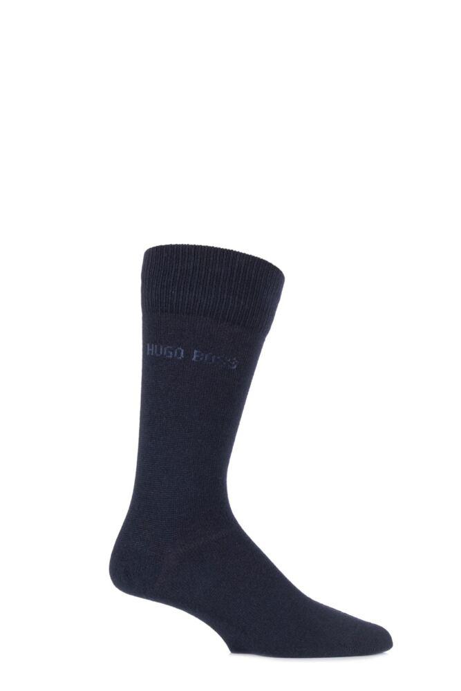 Mens 1 Pair Hugo Boss RS Design Cashmere Blend Plain Socks