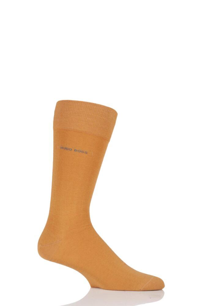Mens 1 Pair Hugo Boss Marc Plain 98% Combed Cotton Socks
