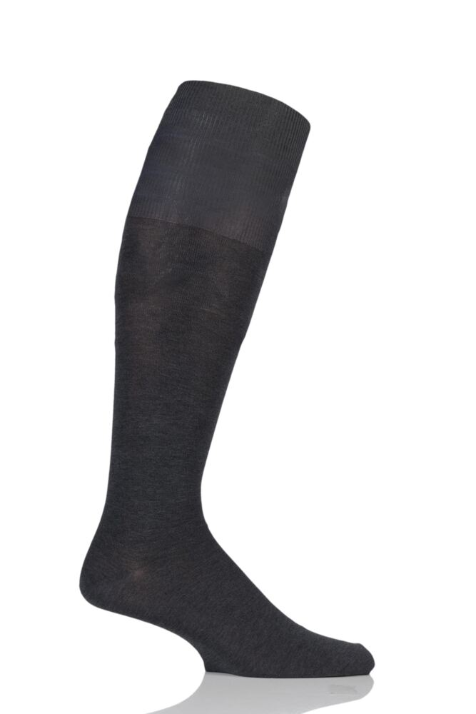 Mens 1 Pair Hugo Boss 82% Mercerized Cotton Knee High Socks