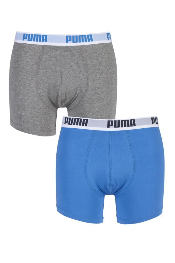 Mens 2 Pair Puma Basic Boxer Shorts