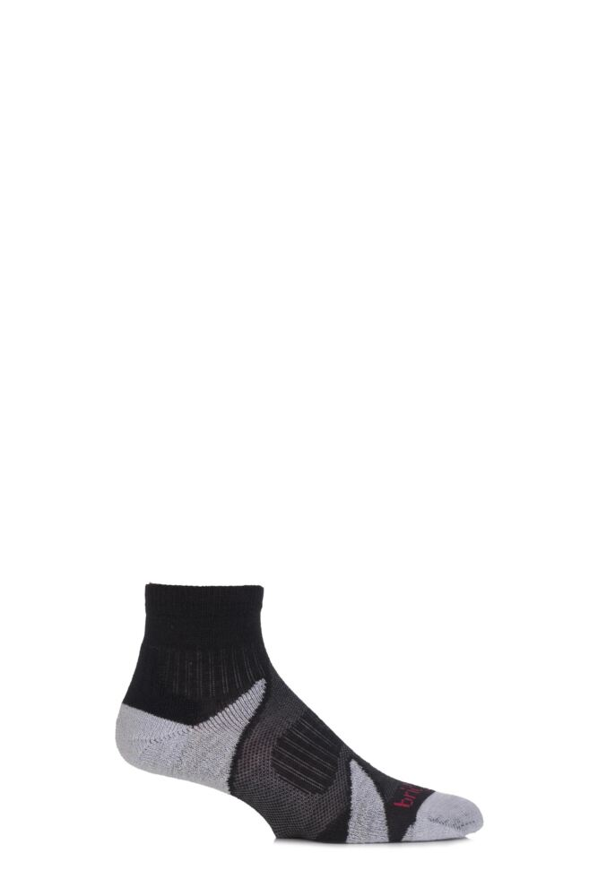 Mens 1 Pair Bridgedale Multisport Cushioned Merino Wool Socks