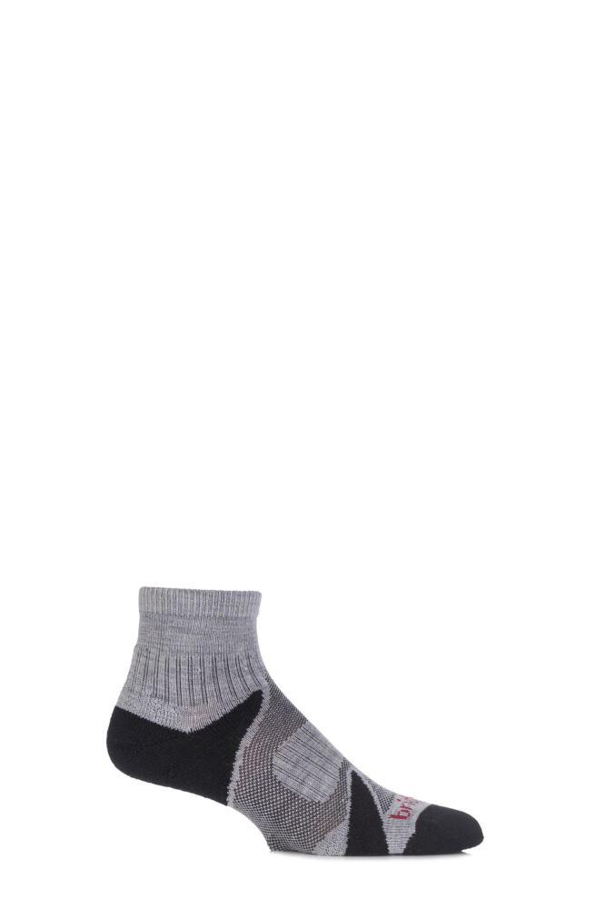 Mens 1 Pair Bridgedale Multisport Cushioned Merino Wool Socks