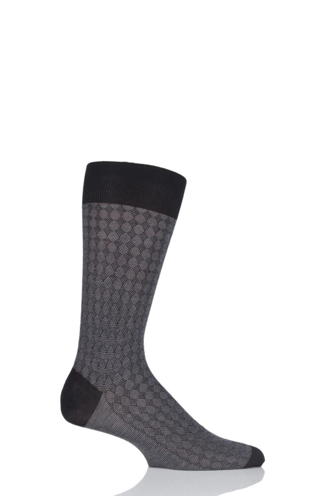 Mens 1 Pair Pantherella Vintage Collection Tenison Pique Diamond Cotton Lisle Socks