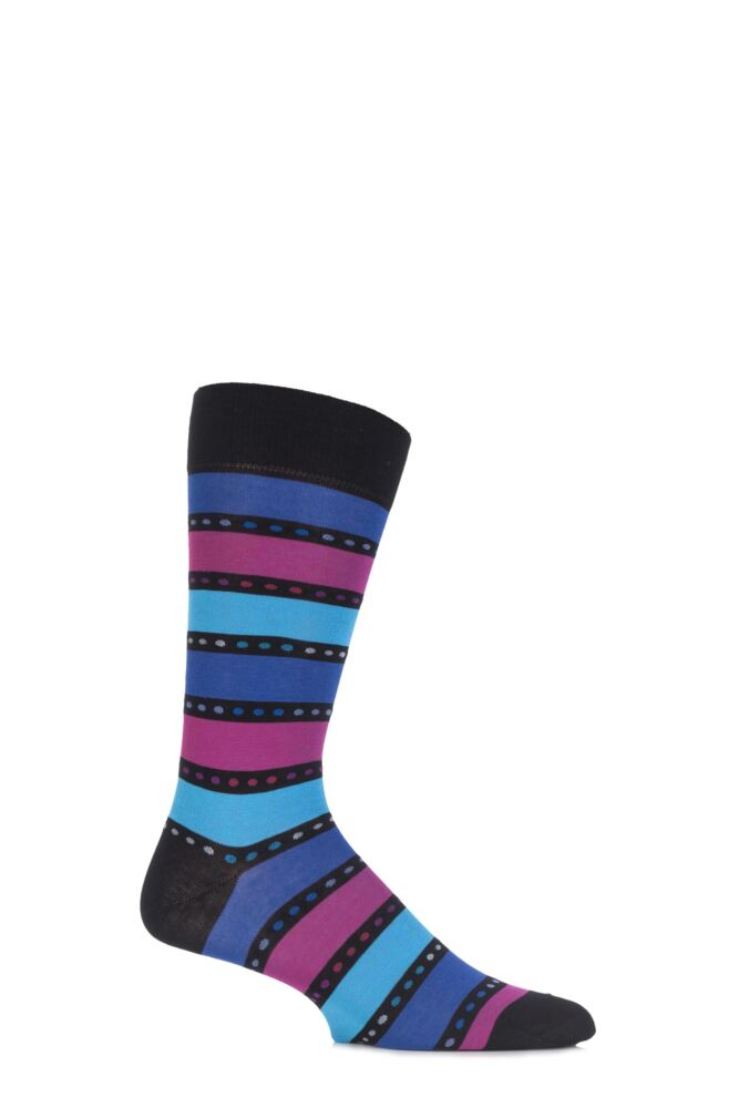 Mens 1 Pair Pantherella Blake Spotty and Striped Cotton Socks 25% OFF