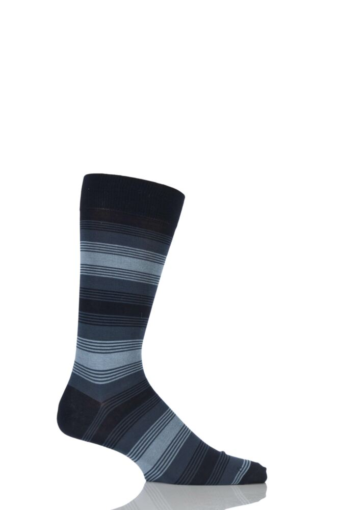 Mens 1 Pair Pantherella Vintage Collection Malvern Striped Cotton Lisle Socks 25% OFF