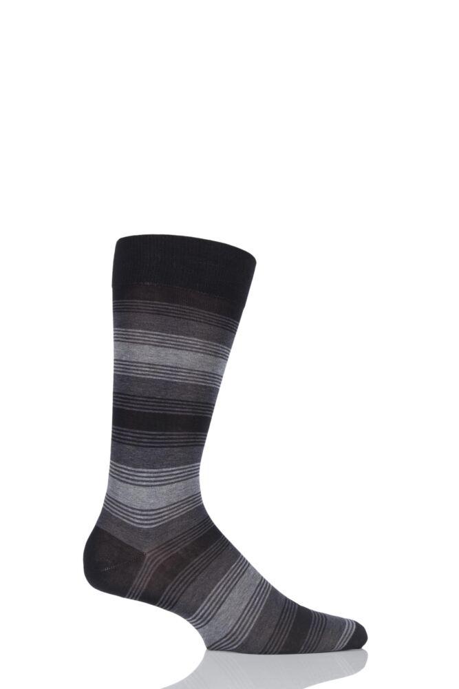 Mens 1 Pair Pantherella Vintage Collection Malvern Striped Cotton Lisle Socks 25% OFF