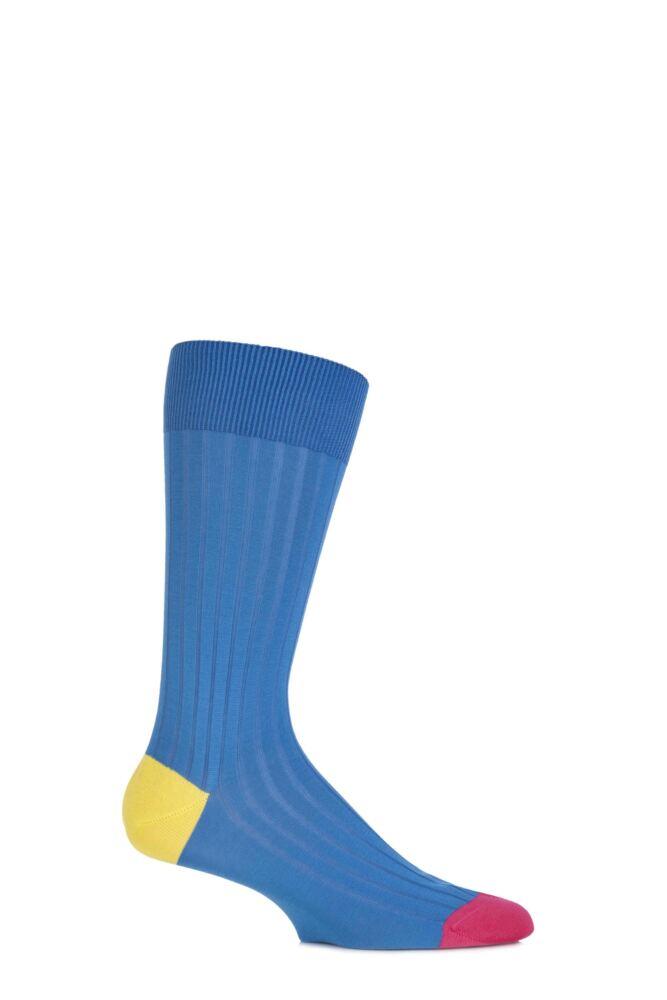 Mens 1 Pair Pantherella Mercerised Cotton Lisle Portobello Solid Colours Collection Socks