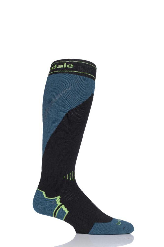 Mens 1 Pair Bridgedale All Mountain MerinoFusion Midweight Ski Socks