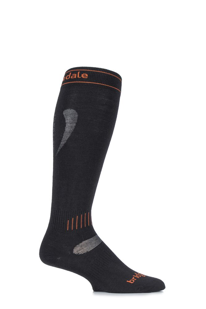 Mens and Ladies 1 Pair Bridgedale Ultra Fit MerinoFusion Lightweight Ski Socks