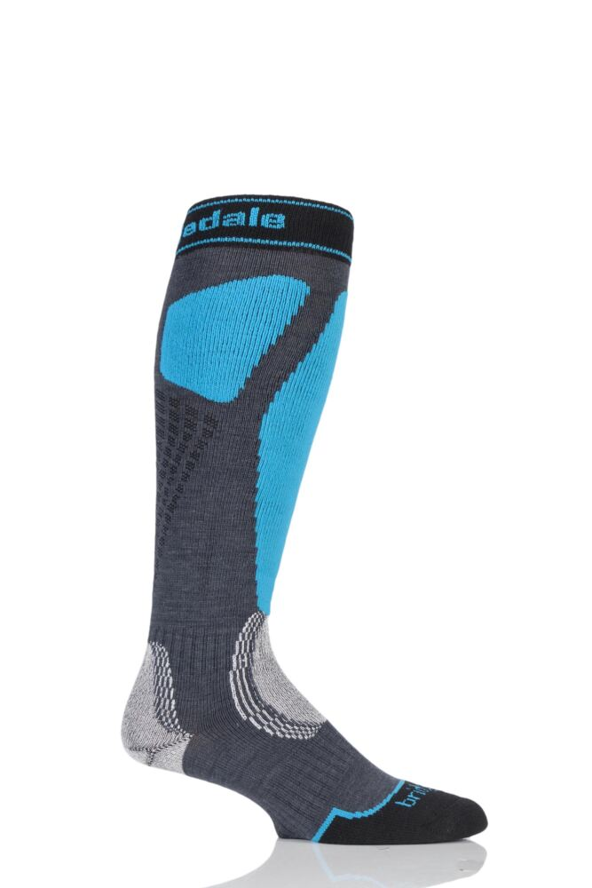 Mens 1 Pair Bridgedale Alpine Tour MerinoFusion Midweight Ski Socks