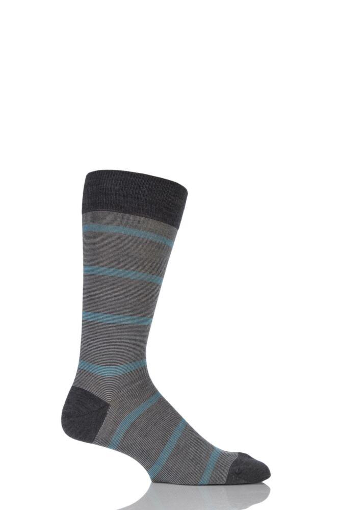 Mens 1 Pair Pantherella Vintage Collection Furley Striped Merino Wool Socks