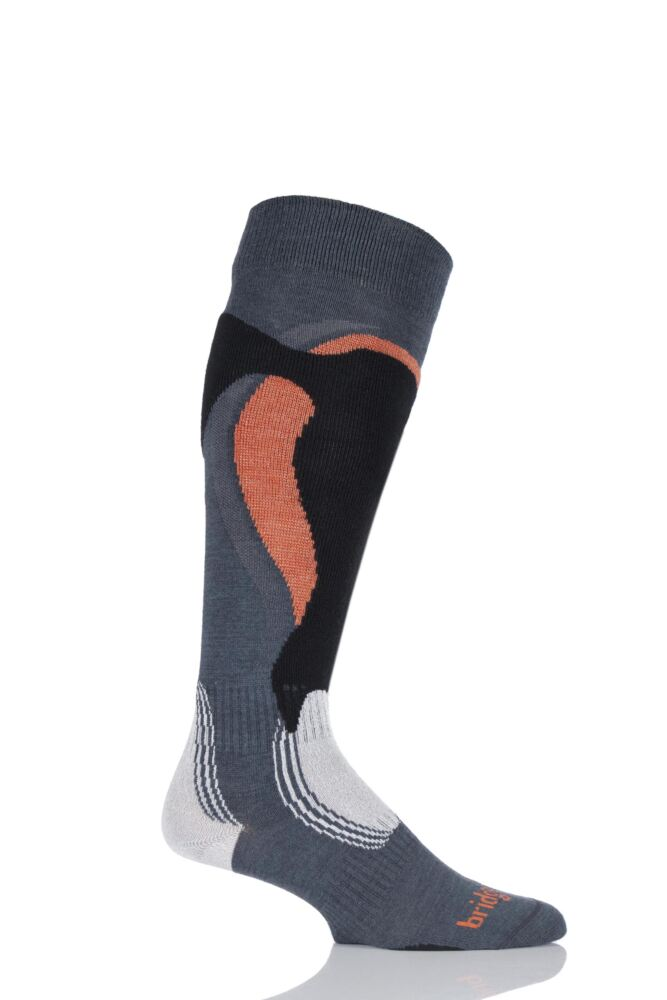 Mens 1 Pair Bridgedale Lightweight Control Fit Winter Sports Socks