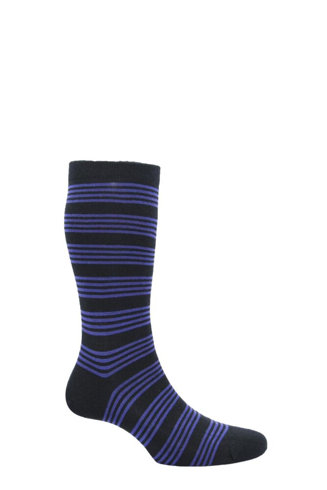 Mens 1 Pair Pantherella Merino Wool Spencer Banded Bright Striped Socks 25% OFF