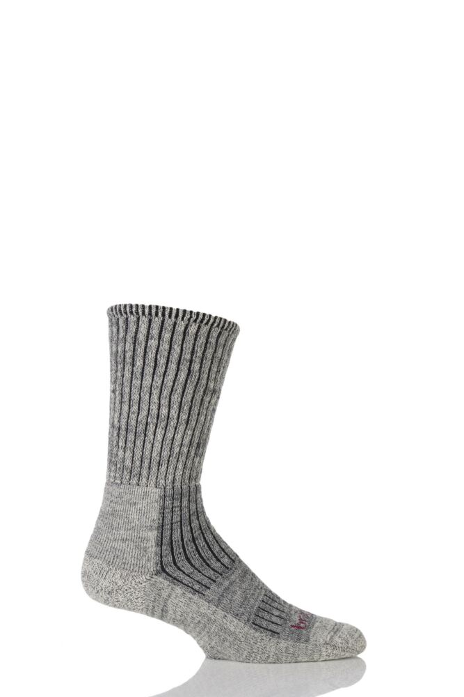 Mens 1 Pair Bridgedale Comfort Trekker Socks For All Day Trekking and Hiking