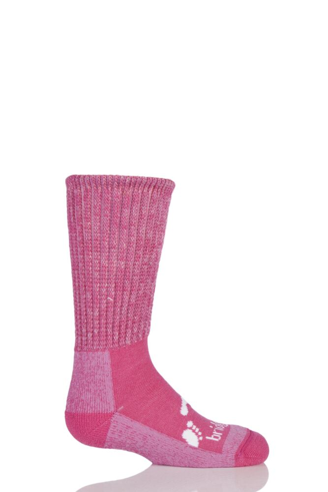 Kids 1 Pair Bridgedale Junior Trekker Socks All Day Comfort