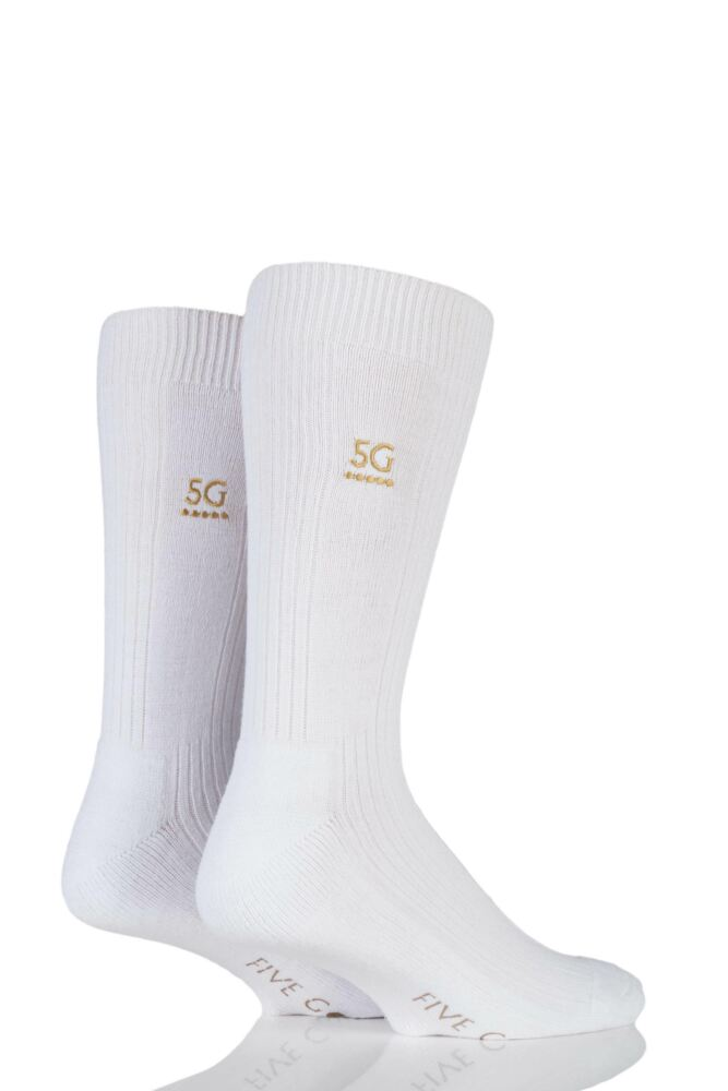 Mens 2 Pair FiveG Endurance Cushioned Sport Sock 33% OFF