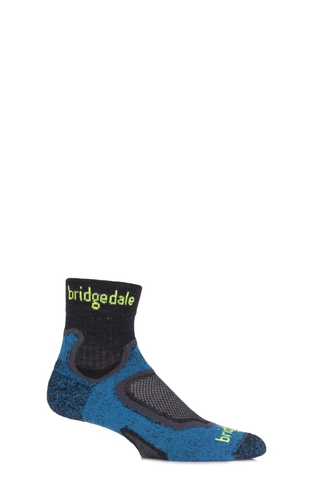 Mens 1 Pair Bridgedale Speed Trail Merino Wool Running Socks