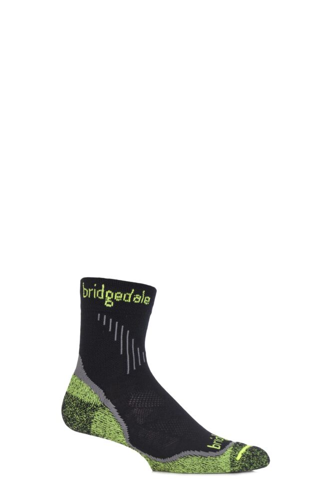 Mens 1 Pair Bridgedale Qw-ik Running Merino Wool Coolmax Socks
