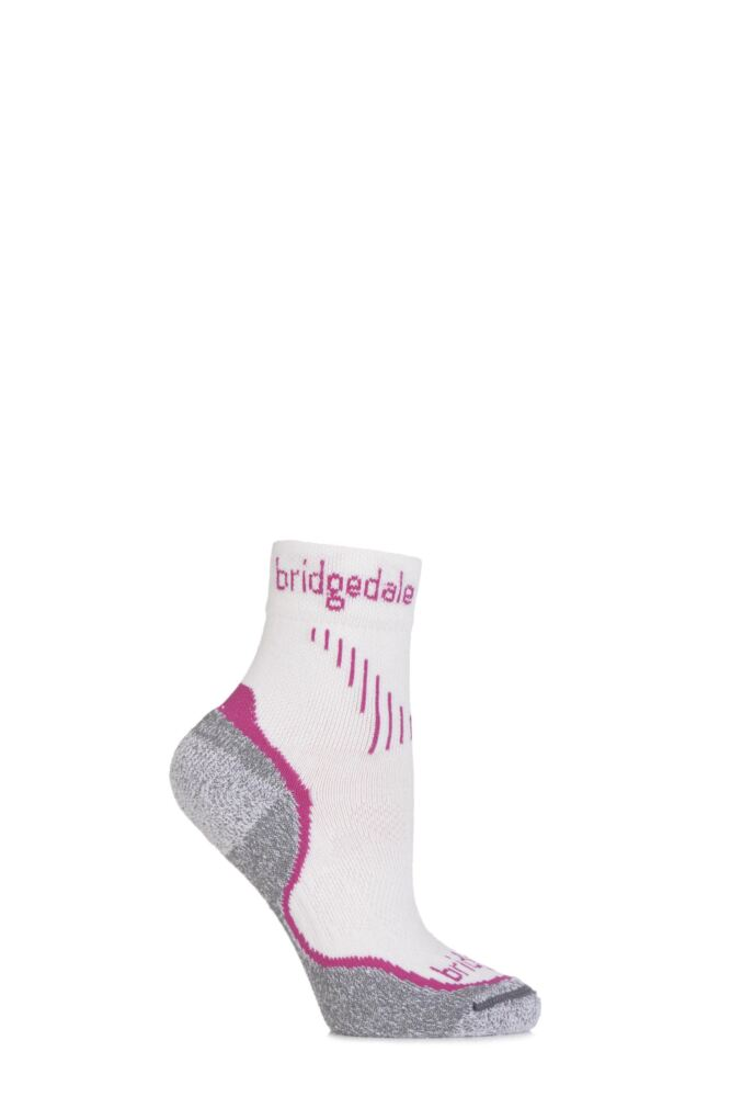Ladies 1 Pair Bridgedale Qw-ik Running Merino Wool Coolmax Socks