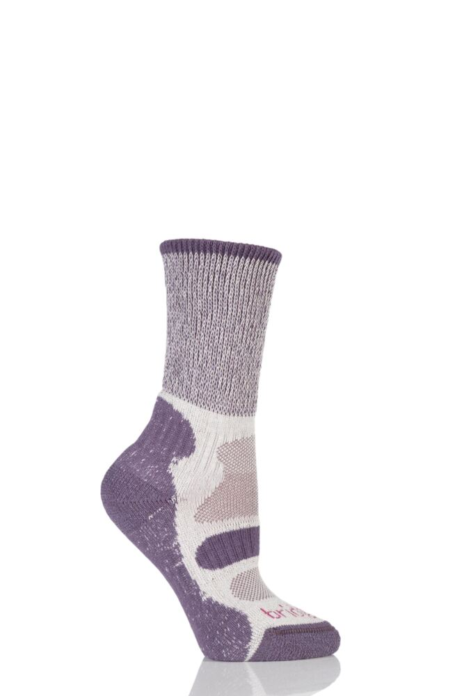 Ladies 1 Pair Bridgedale Active Light Hiker Cotton and Coolmax Sock For Summer Hiking