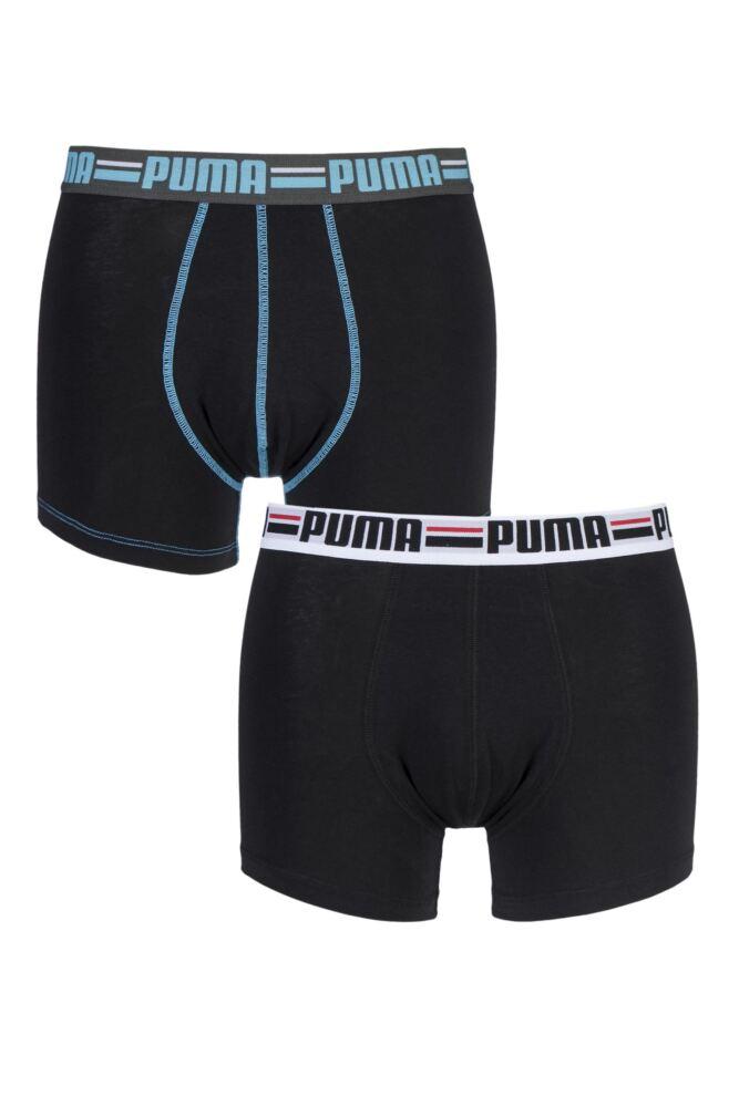 Mens 2 Pair Puma Branded Logo Boxer Shorts