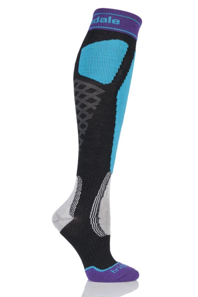 Ladies 1 Pair Bridgedale Alpine Tour MerinoFusion Midweight Ski Socks