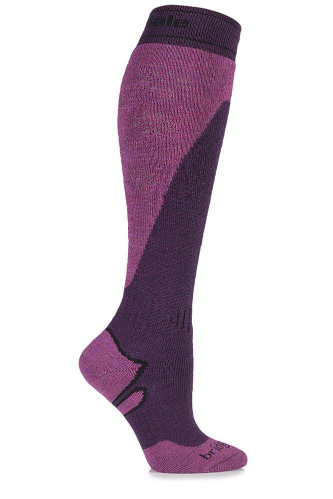 Ladies 1 Pair Bridgedale All Mountain MerinoFusion Midweight Ski Socks