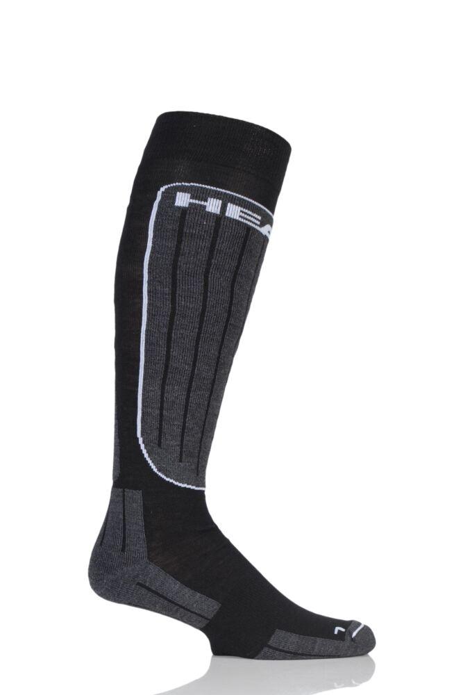 Mens 1 Pair Head Wool Blend Performance Ski Socks