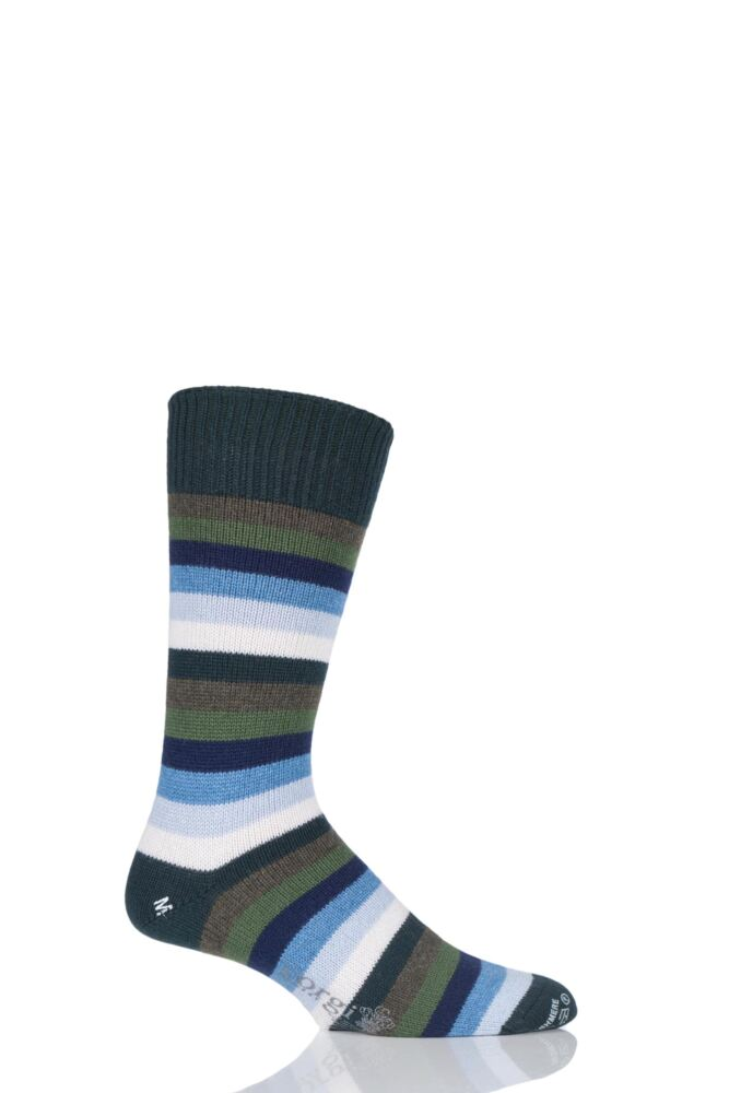 Mens 1 Pair Corgi 100% Cashmere Multi Striped Socks