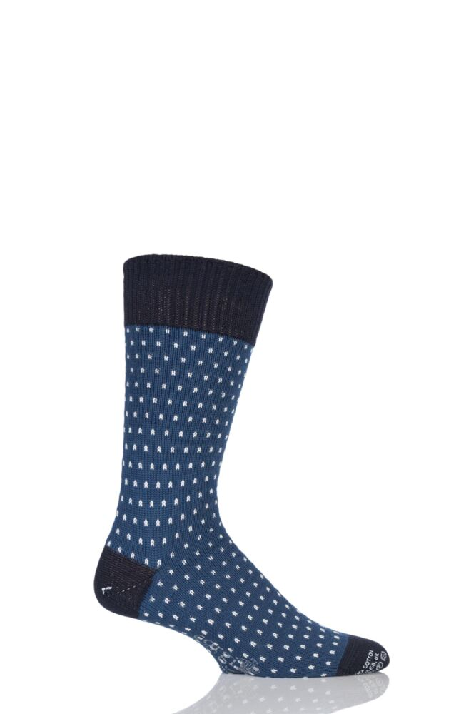 Mens 1 Pair Corgi Heavyweight Wool Pindot Socks