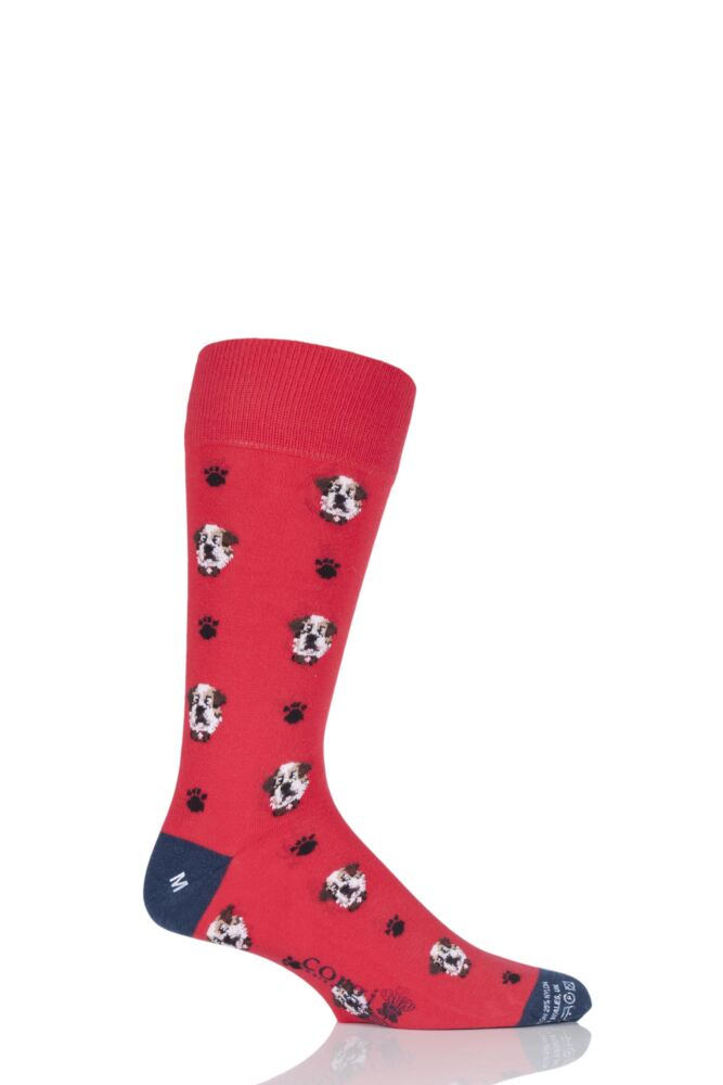 Mens 1 Pair Corgi Lightweight Cotton British Bulldog Socks