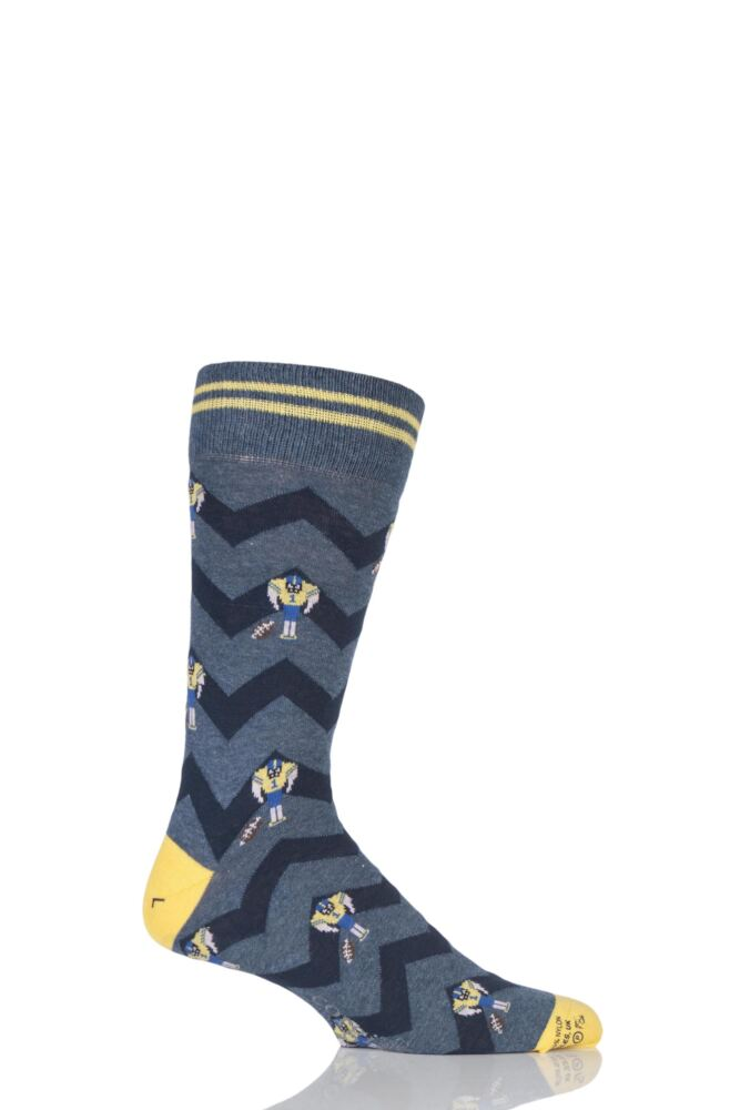 Mens 1 Pair Corgi Lightweight Cotton American Football Socks