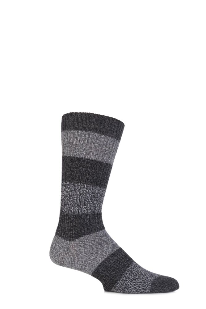 Mens 1 Pair Levis 084LS Wool Striped Crew Socks