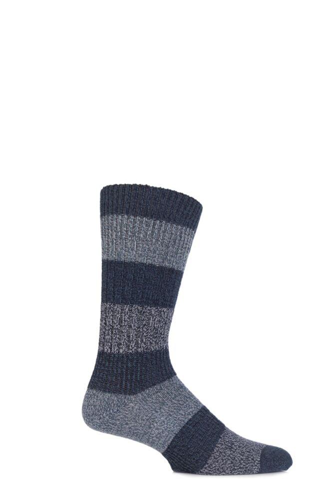Mens 1 Pair Levis 084LS Wool Striped Crew Socks