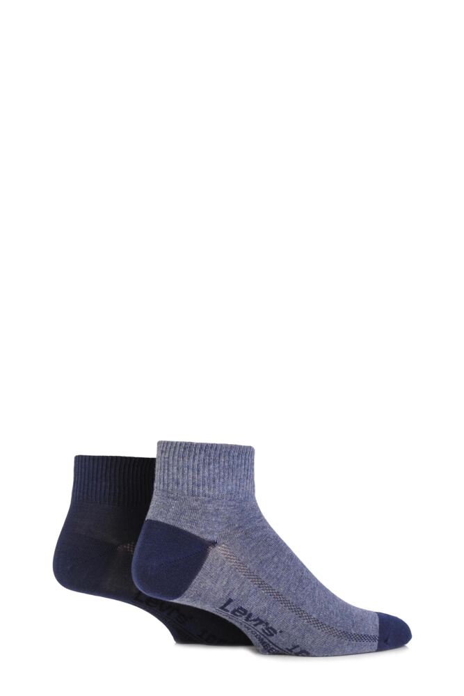 Mens 2 Pair Levis 168SF Plain Cotton Mid Cut Socks