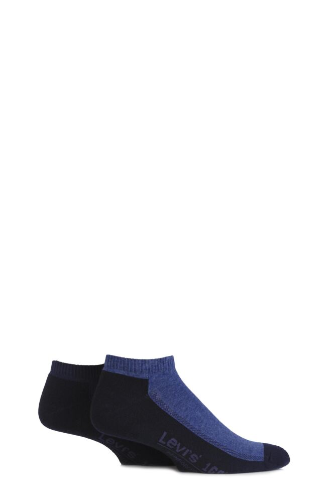 Mens 2 Pair Levis 168LS Plain Cushioned Low Cut Socks