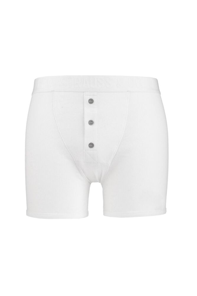 Mens 1 Pack Levis Levi Strauss Heritage Original Long Boxer Shorts In White