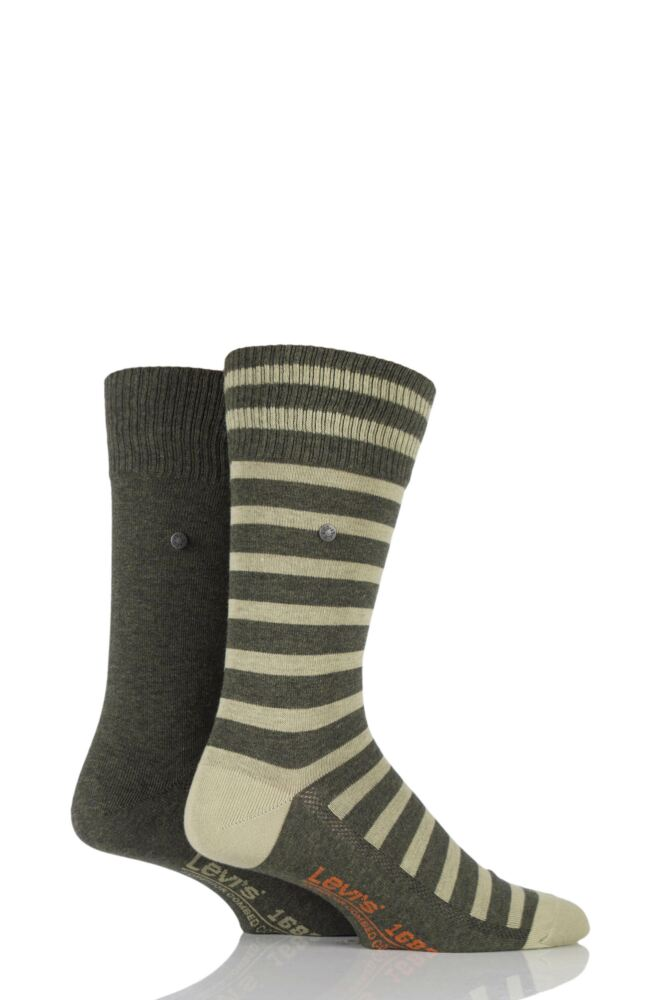 Mens 2 Pair Levis 168SF Mixed Striped Cotton Socks