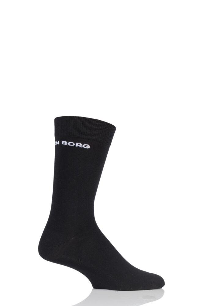 Mens 1 Pair Bjorn Borg Plain Cotton Socks with Logo
