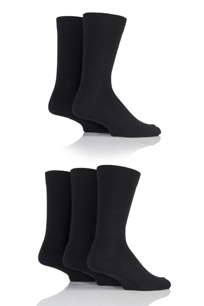 Mens 5 Pair Bjorn Borg Plain Cotton Socks