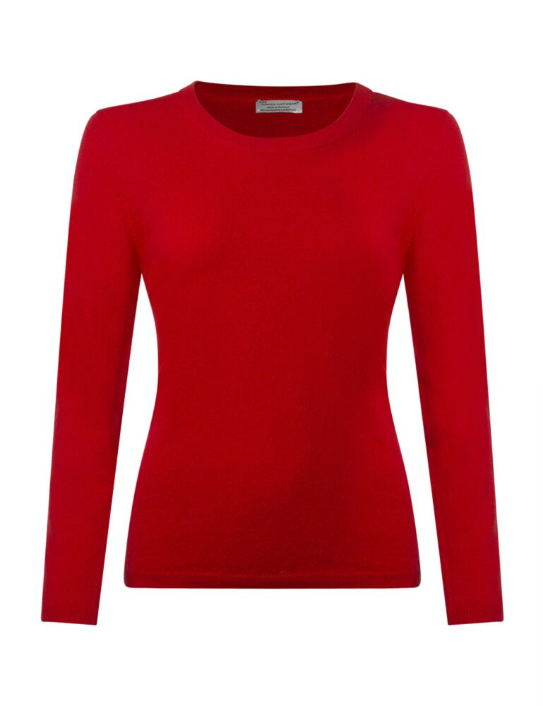 Ladies Great & British Knitwear 100% Extrafine Lambswool Round Neck Jumper