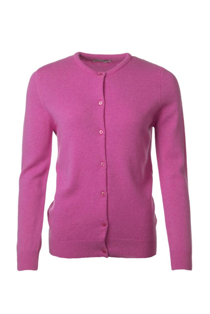 Ladies Great & British Knitwear 100% Lambswool Golfer Cardigan