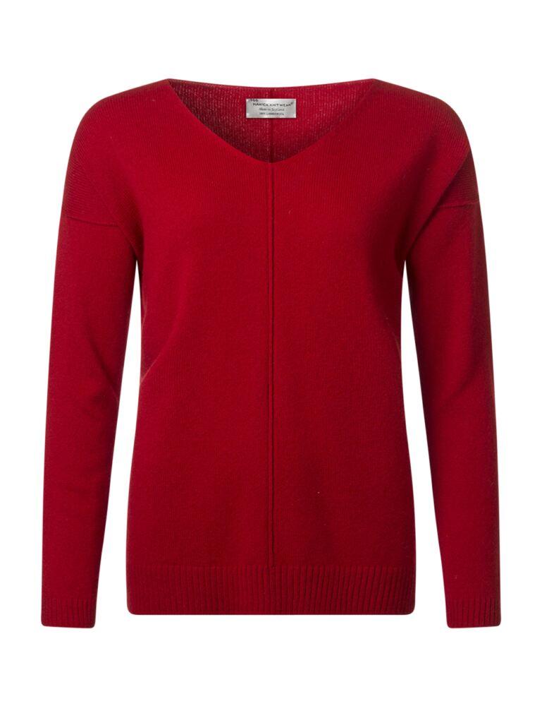 Ladies Great & British Knitwear 100% Lambswool V Neck Boyfriend Tunic