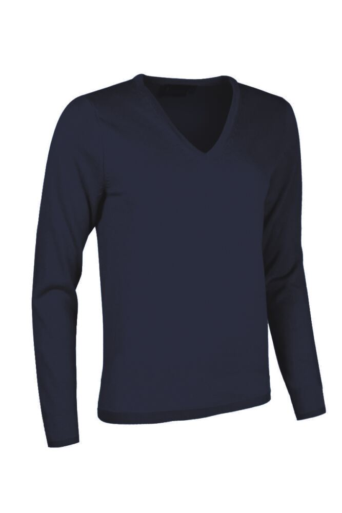 Ladies Great & British Knitwear Made In Scotland 100% Cashmere V Neck Blues