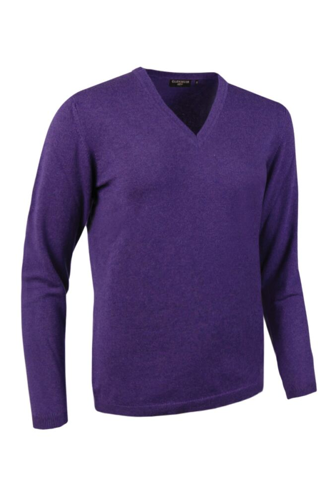 Ladies Great & British Knitwear Made In Scotland 100% Cashmere V Neck Purples and Pinks
