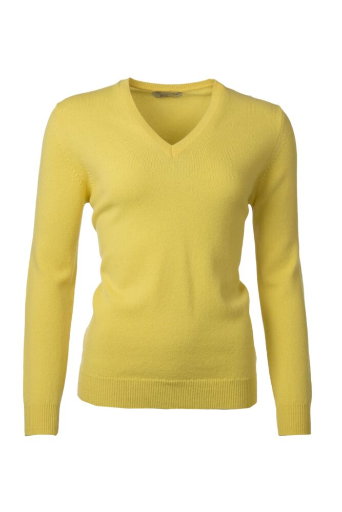 Ladies Great & British Knitwear 100% Lambswool Plain V Neck Jumper