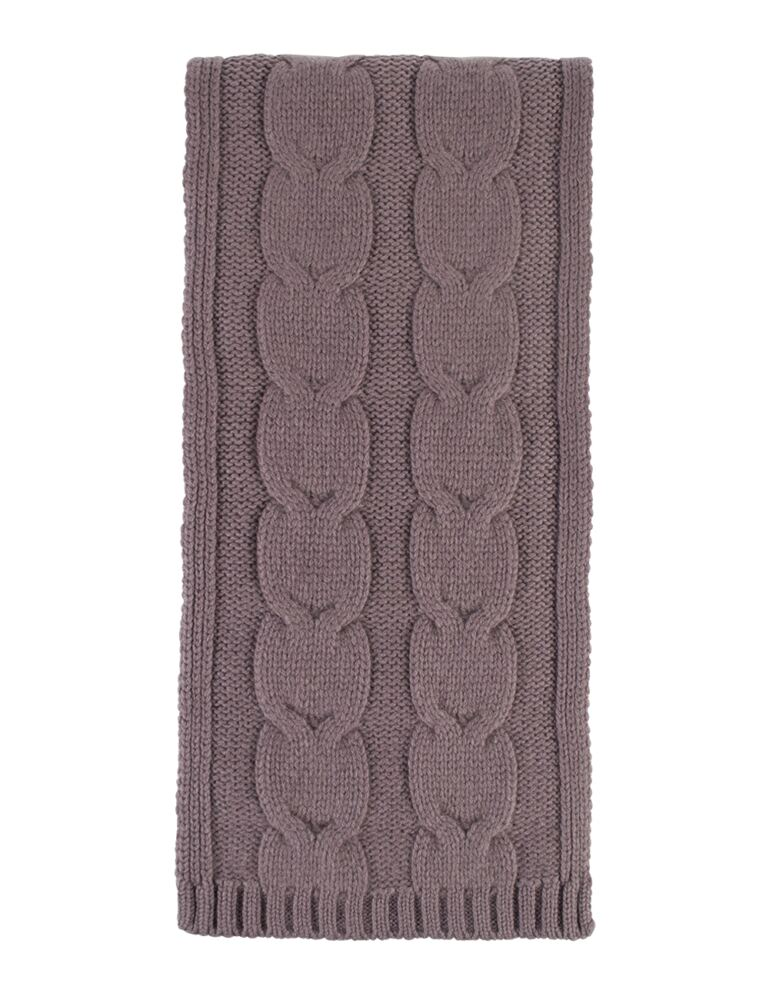 Ladies Great and British Knitwear 100% Cashmere Cable Knit Scarf. Made In Scotland
