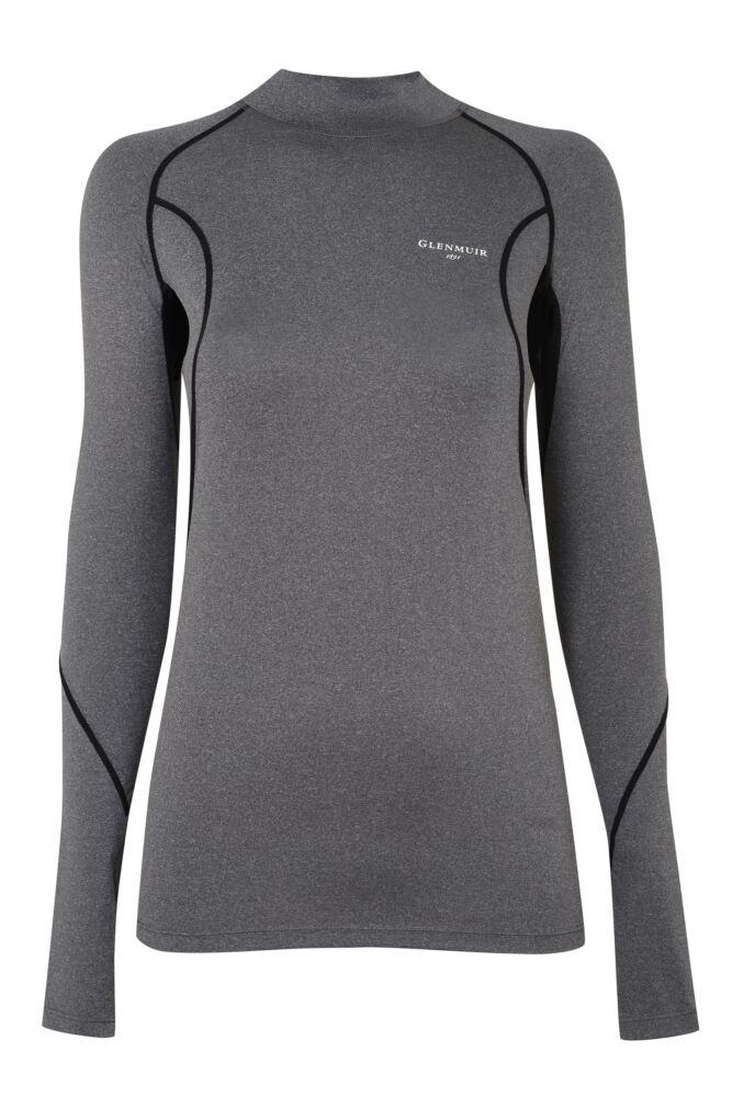 Mens 1 Pack Glenmuir Long Sleeved High Neck Compression Base Layer T-Shirt